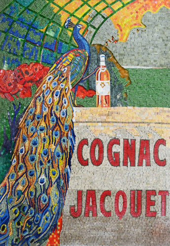 Cognac Jacquet Custom Marble And Glass Mosaic