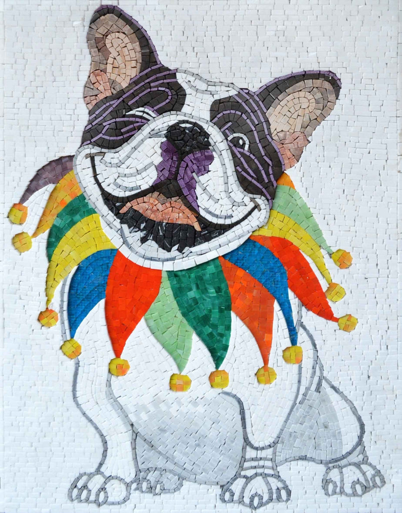 Mosaic Stones - Clown Dog