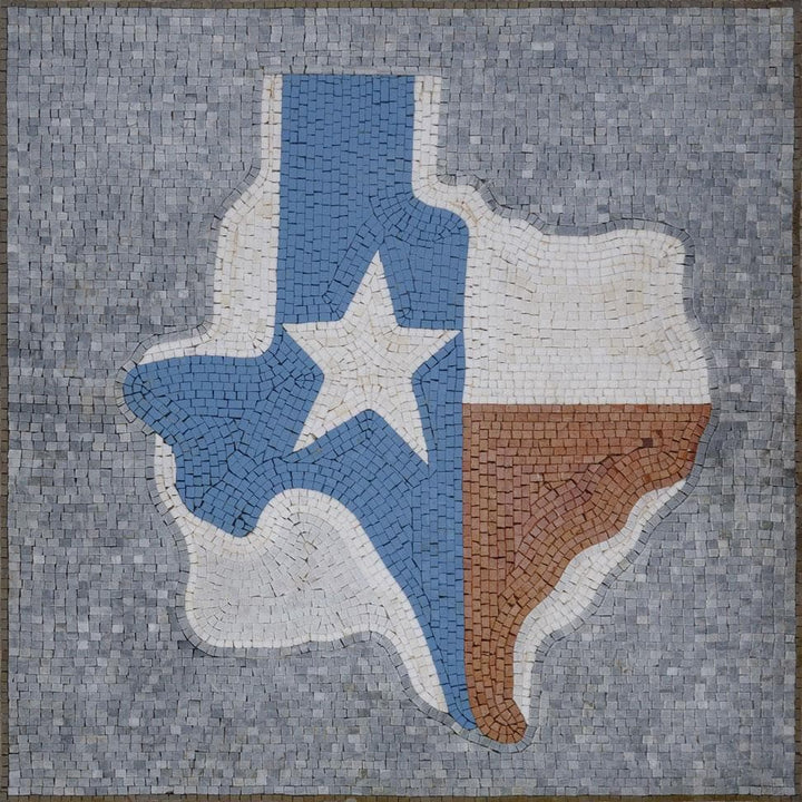 Map Marble Mosaic - Texas