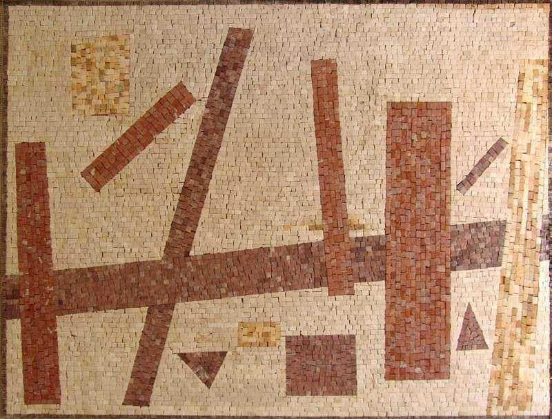 "Kazimir Malevich Geometry"" - Abstract Mosaic """