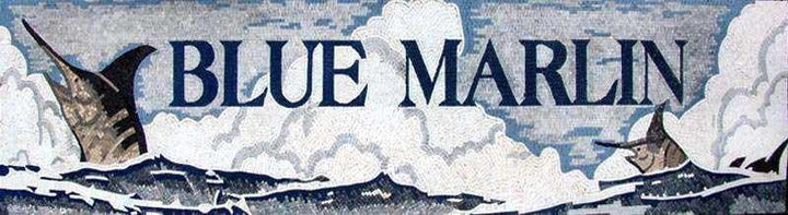 Blue Marlin Custom Made  Mosaic Mural