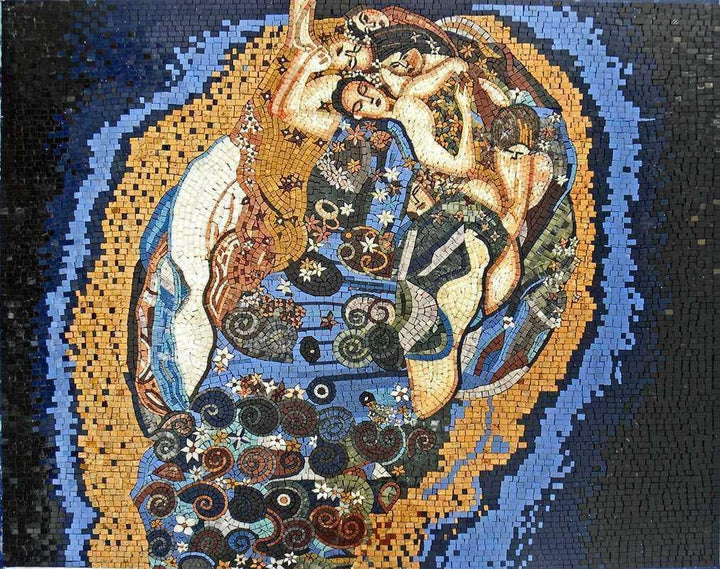 "Mosaic Art - The Maiden"" Gustav Klimt """