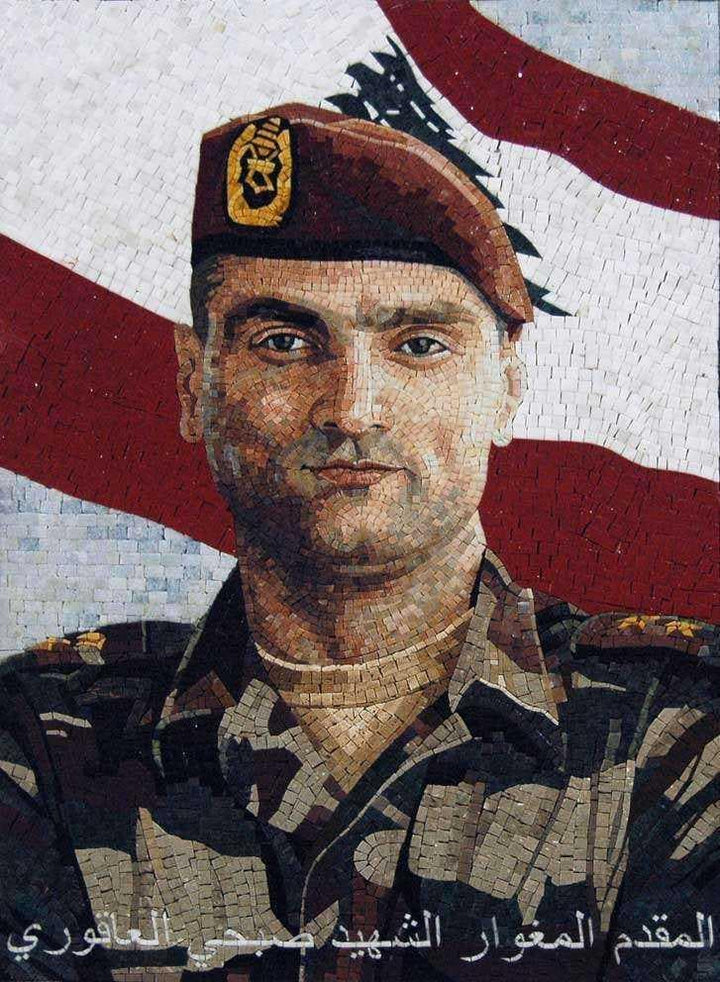 Custom Mosaics- Military Martyrs Portraits