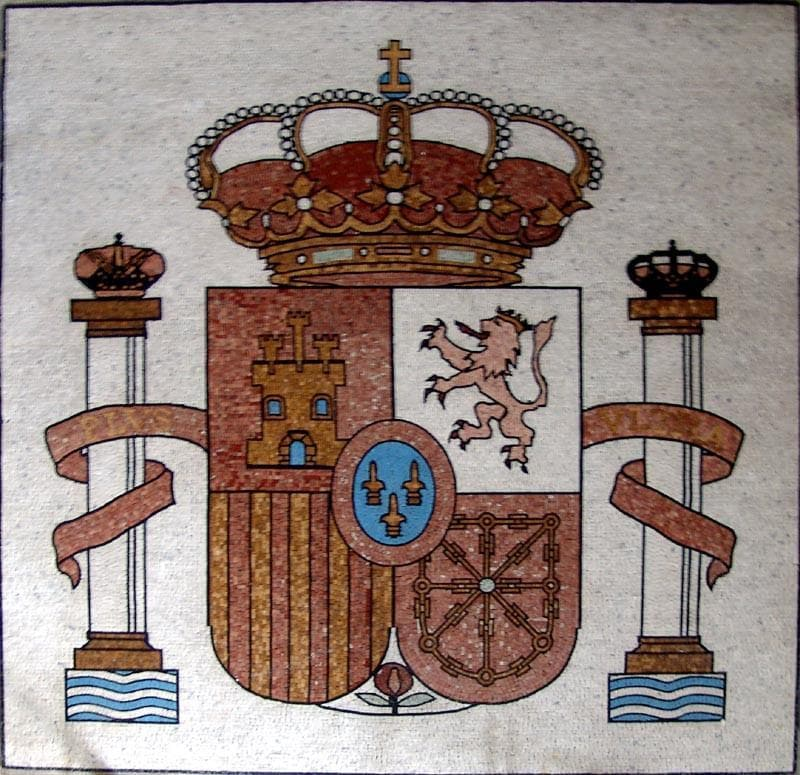 Spain Coat of arms Mosaic