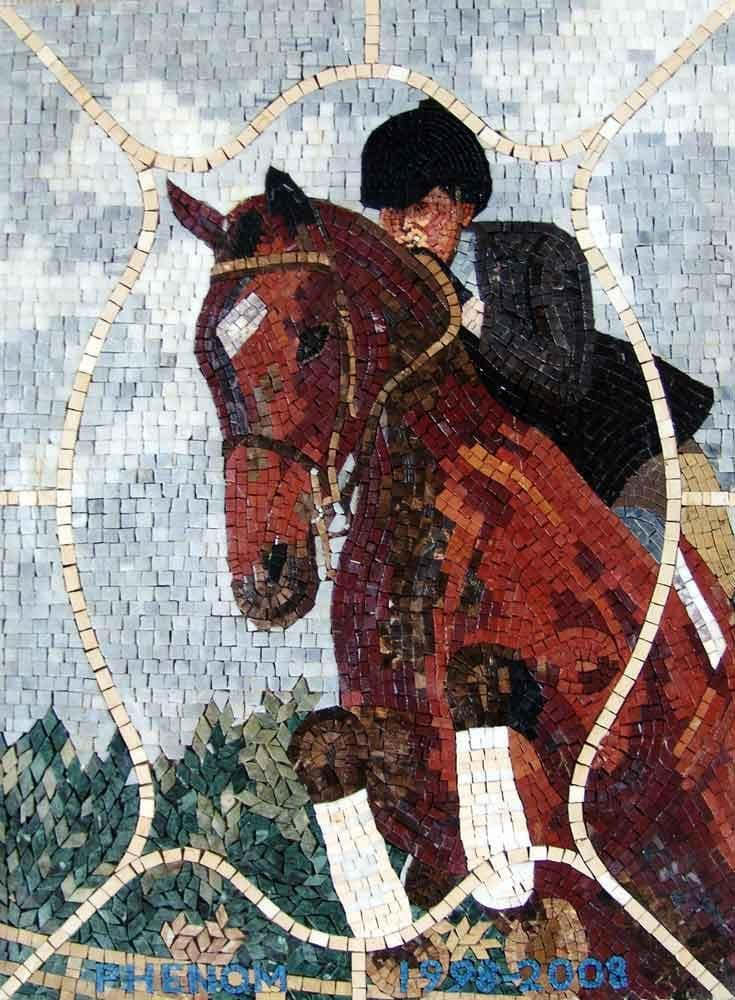 Horse Rider Custom hand made Mosaic