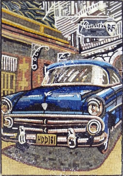 Vintage Car Customized Mosaic Pic
