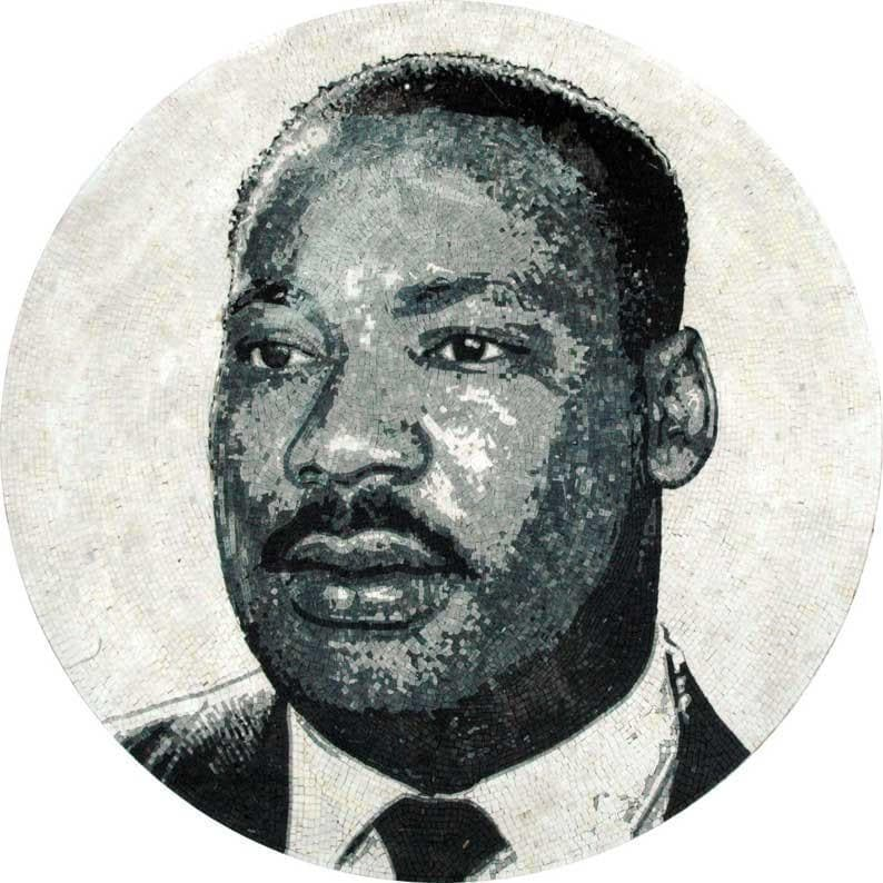 Martin Luther King Marble Artwork