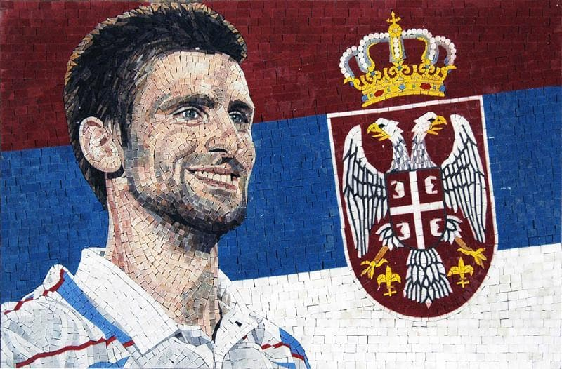 Novak Djokovic Custom Made Mosaic Marble