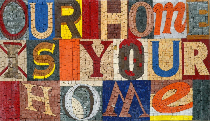 Mosaic Welcome Home Hanger