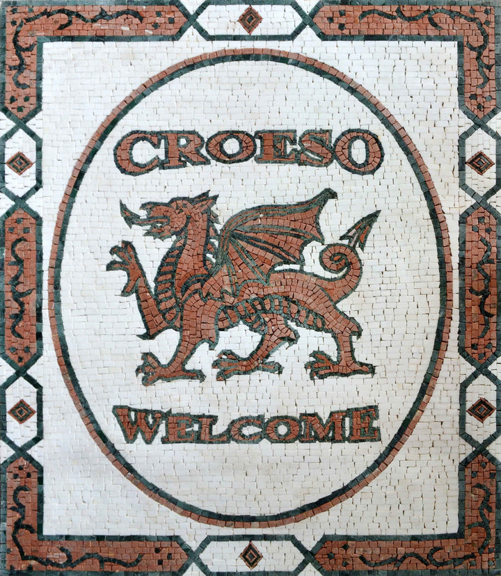 Mosaic Welsh Door Mat