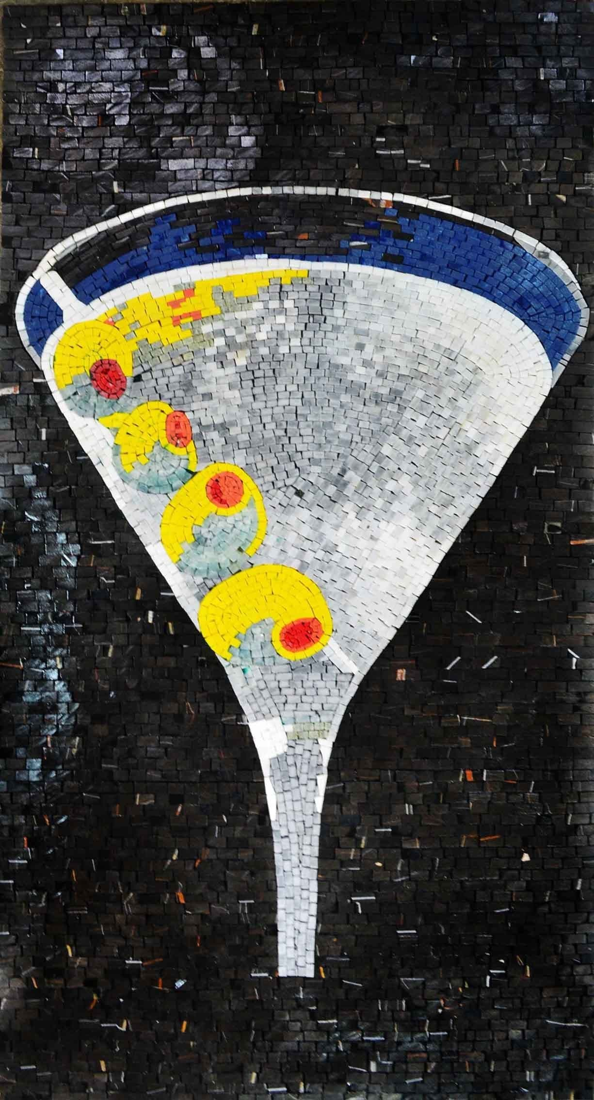 Martini Drink Mosaic Decorative Artwork