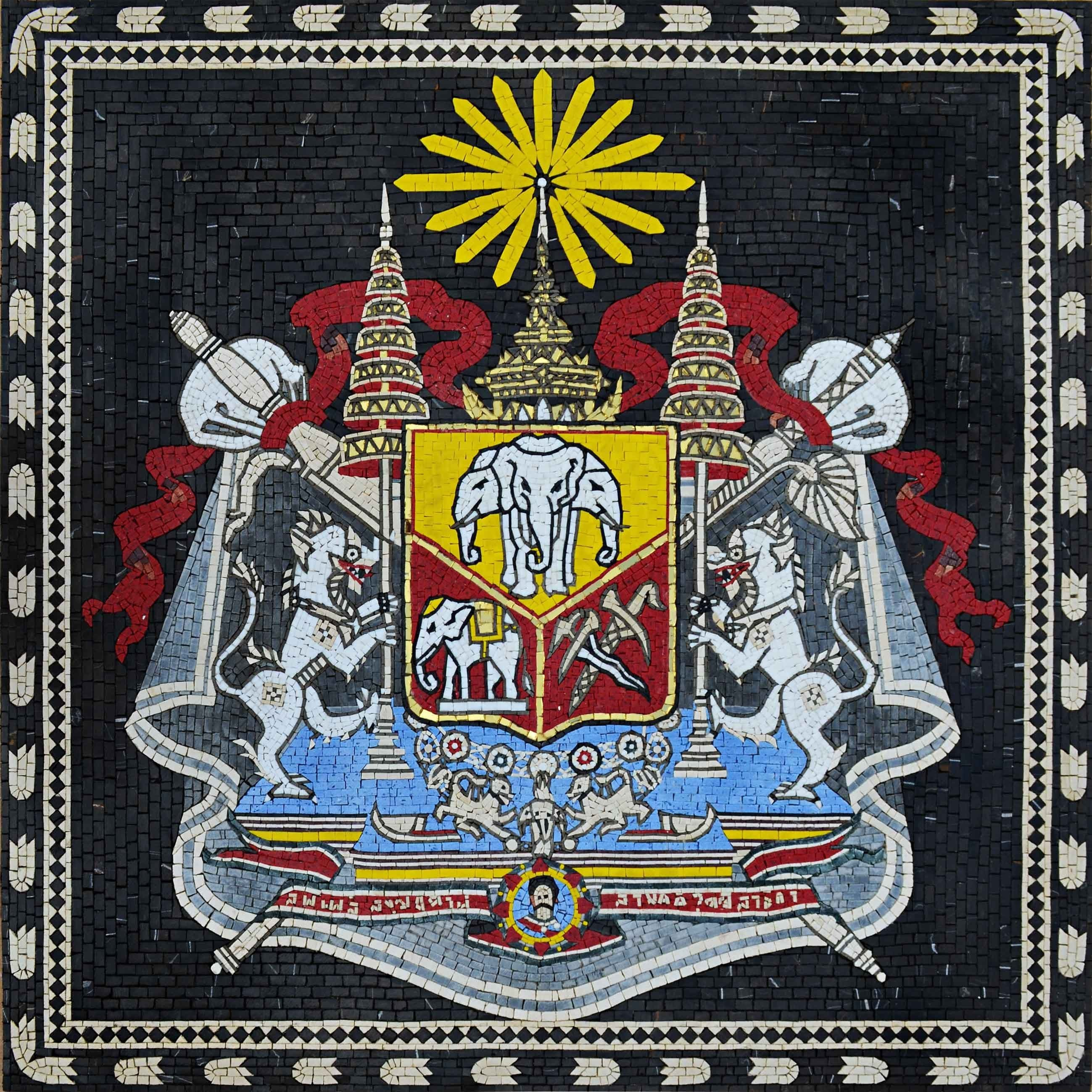 Custom Mosaics - Thailand Coat of Arms