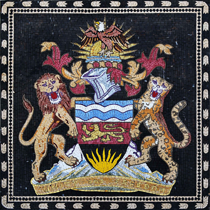 Custom Mosaics - India Coat of Arms