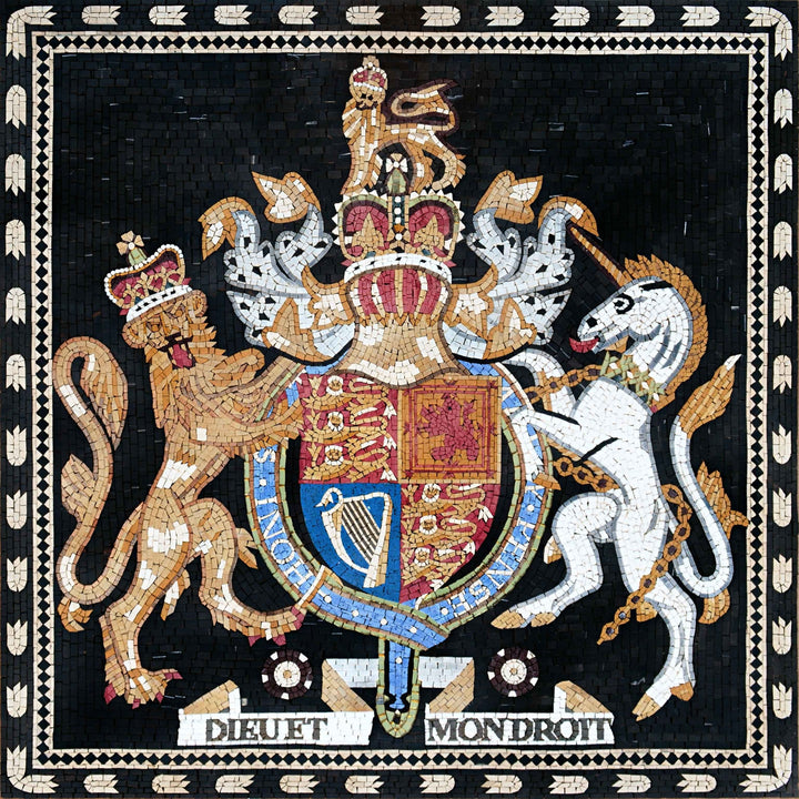 Custom Mosaics - Royal Coat of Arms