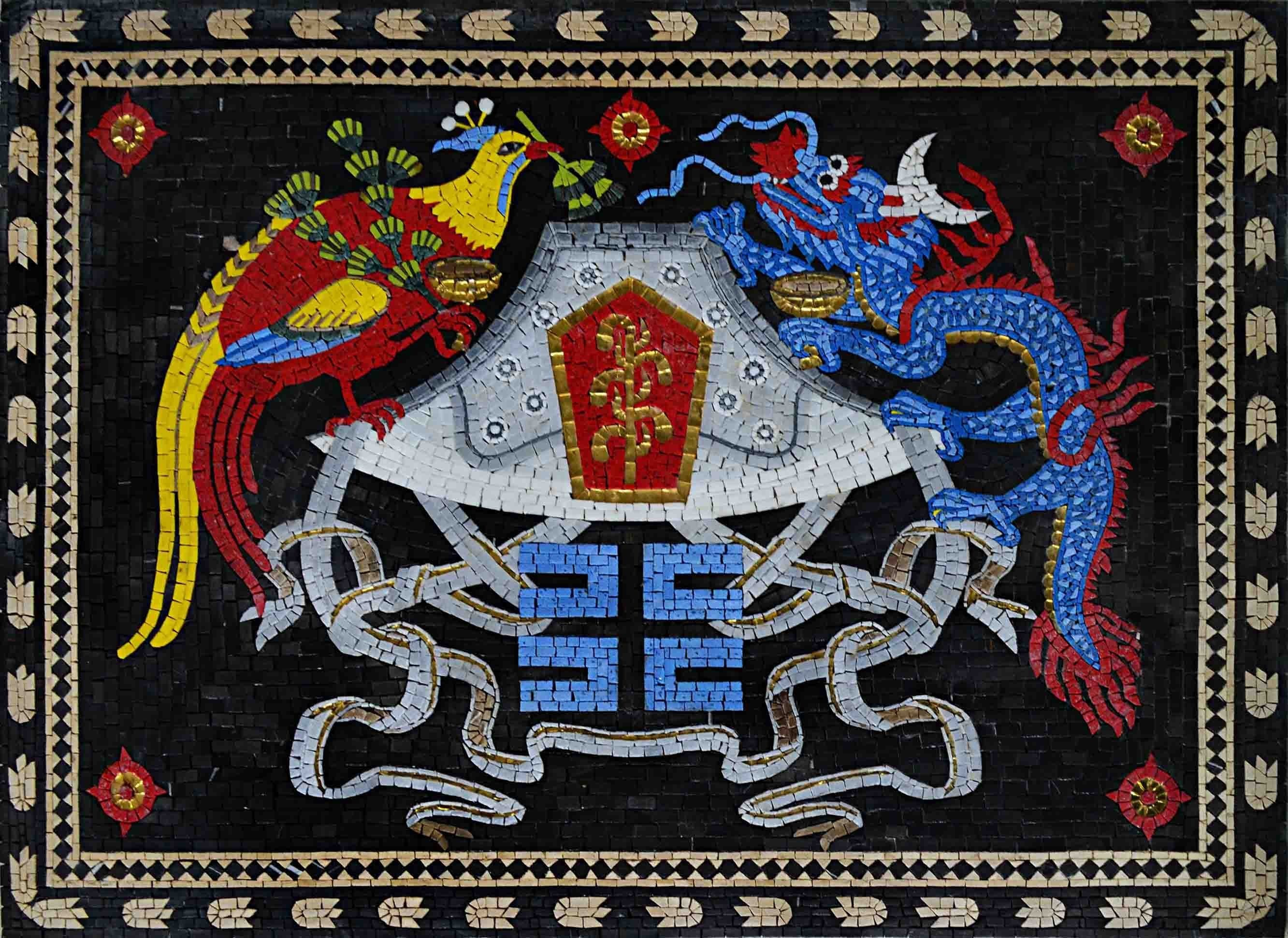 Custom Mosaics China Coat Of Arms Pic