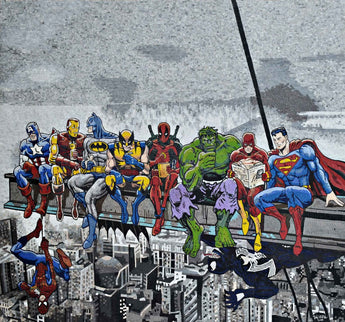 Mosaic Wall Art - Superheroes