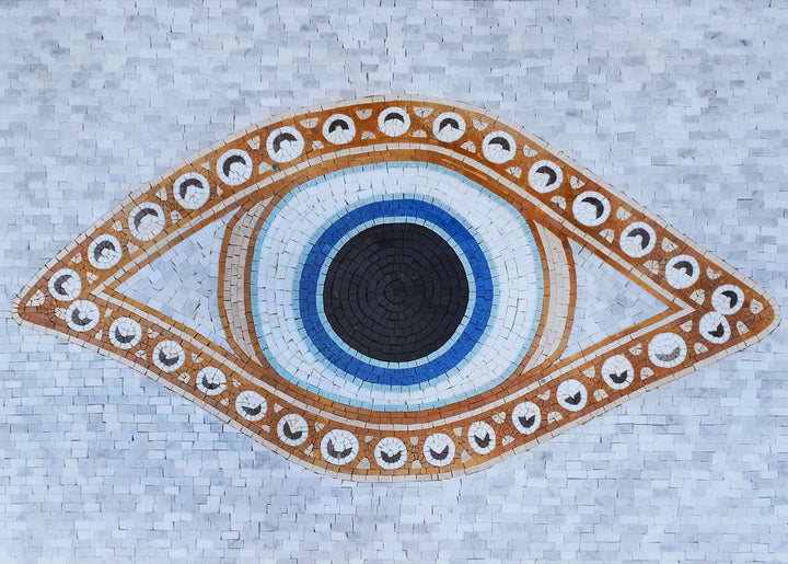 Mosaic Patterns - Evil Eye Oval