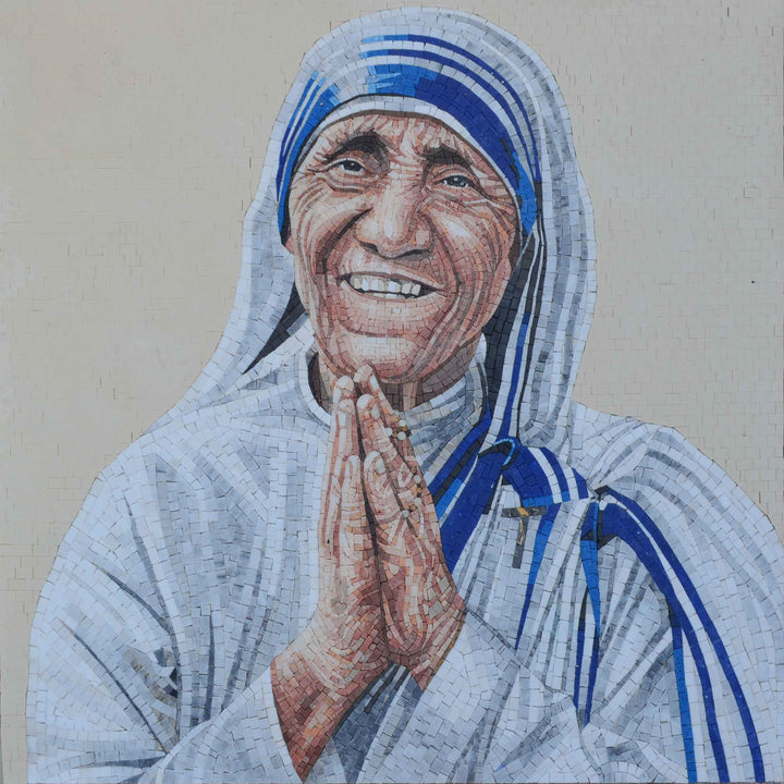 Mosaic Portrait - Mother Theresa