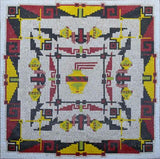 Abstract Geometric Mosaic Rug Design