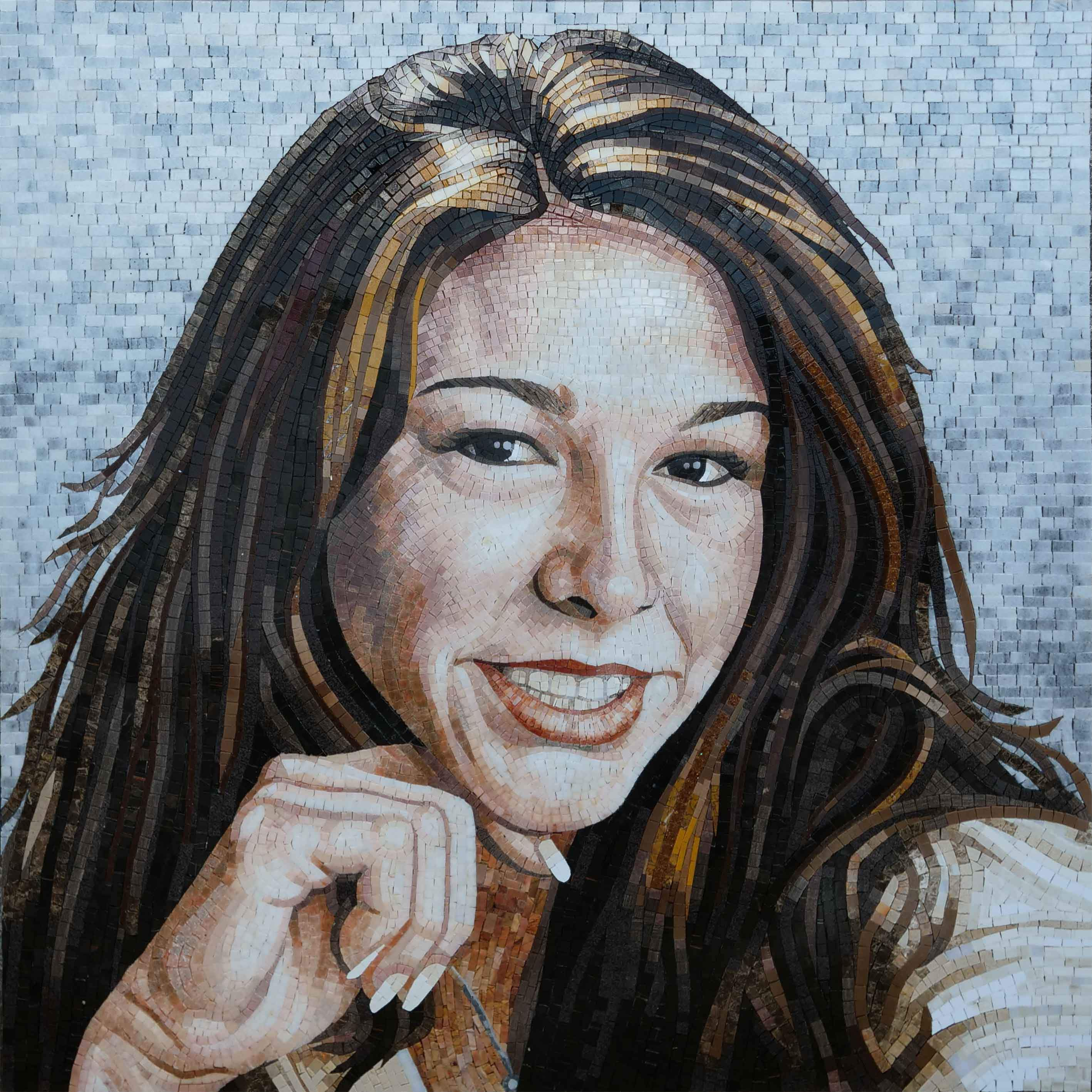 Female Portrait Custom Mosaic Art Pic