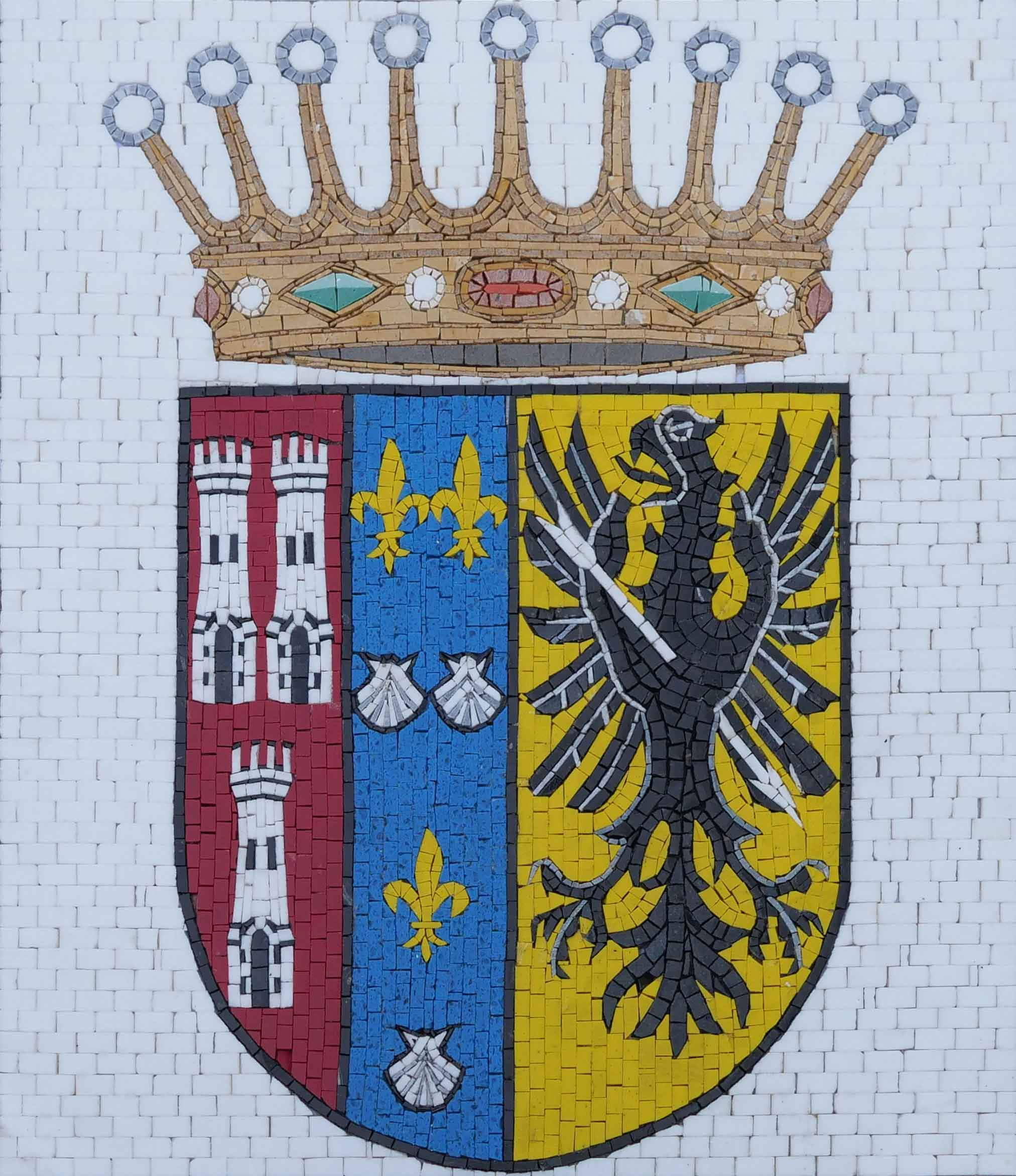 Custom Coat of Arms Badge - Mosaic Art
