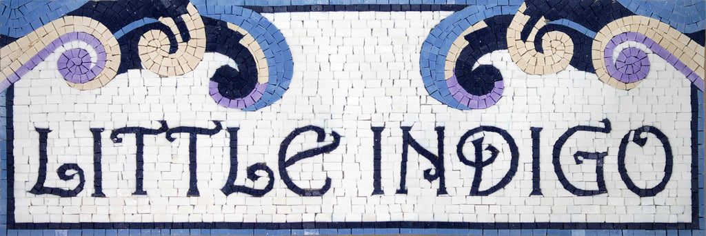 Little Indigo Custom Mosaic Sign