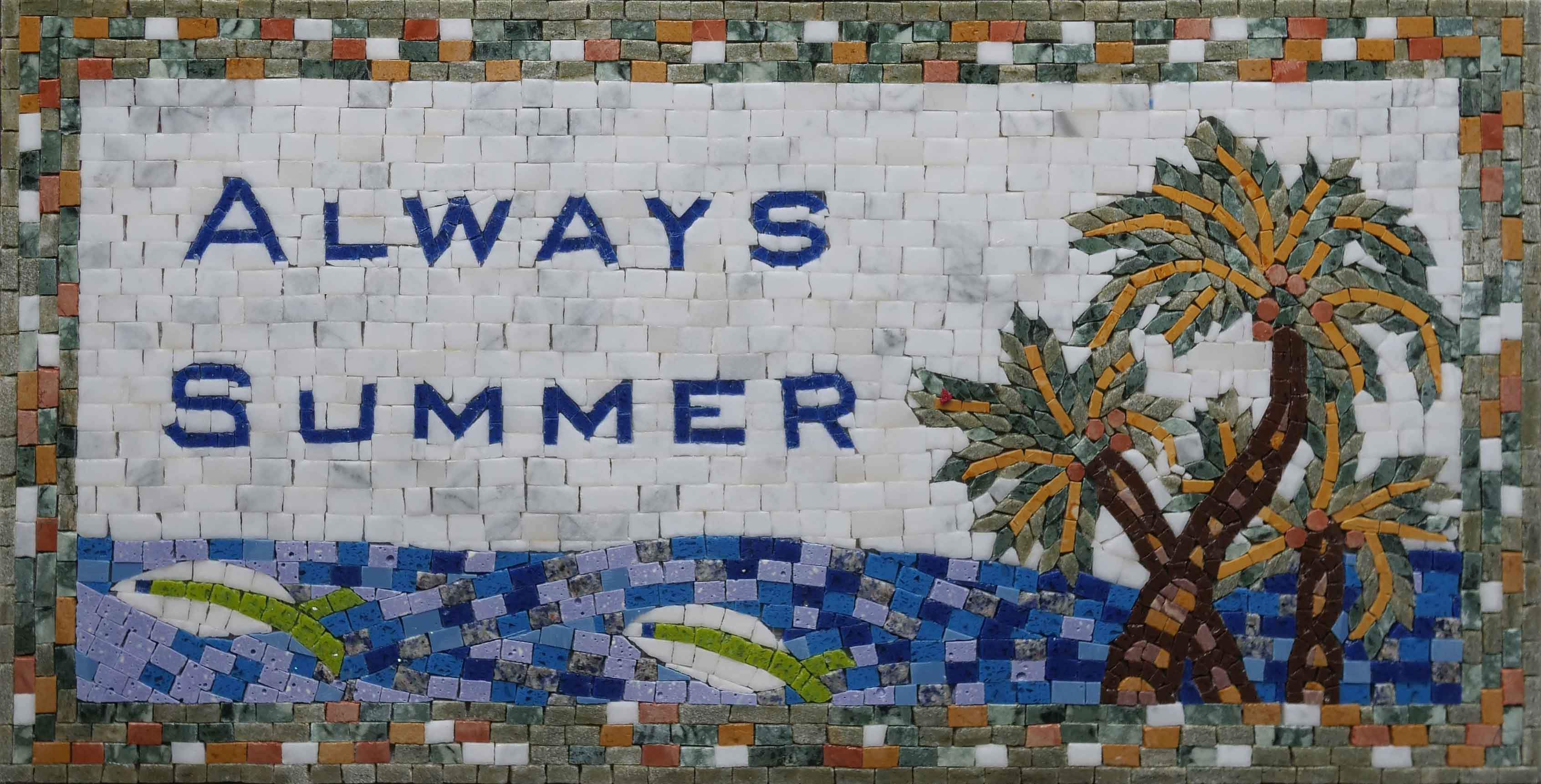 Custom Mosaic Artwork - Always Summer