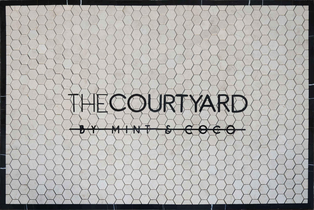 Custom Petal Mosaic -The Courtyard by Mint & Coco