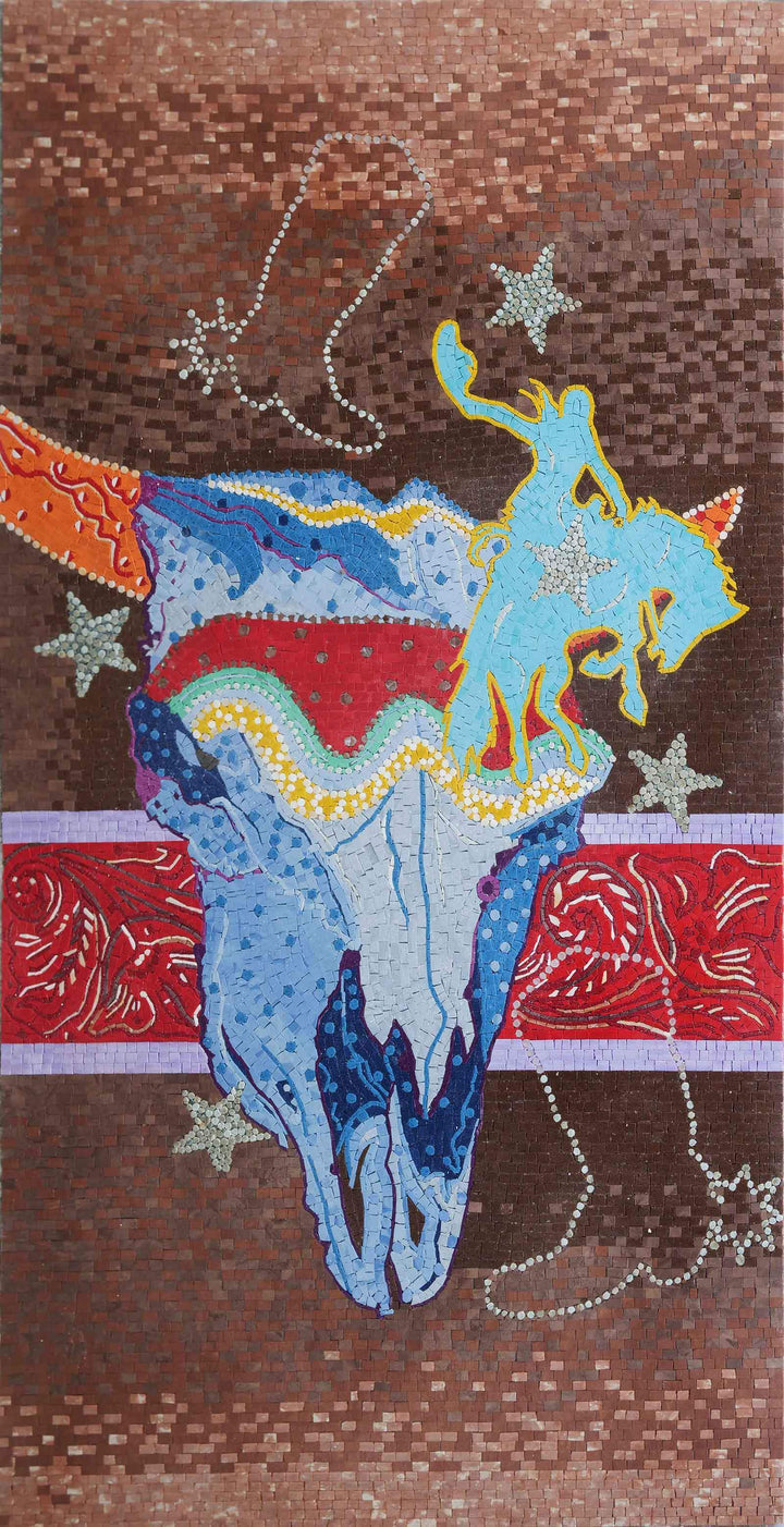 Custom Mosaic Design - Days at the Rodeo