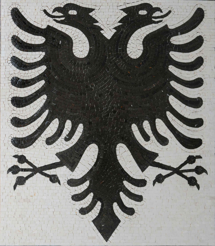Custom Marble Logo - The Albanian Eagle