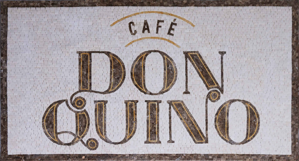 Mosaic Custom Made Coffee Shop Sign
