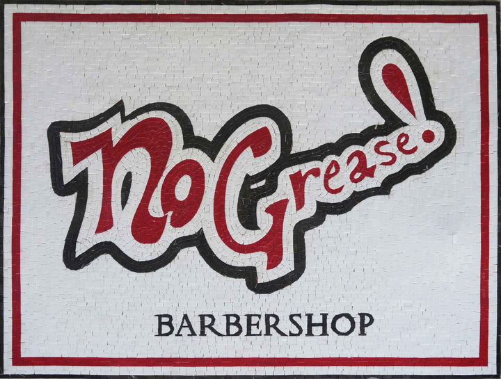 Barbershop Mosaic Sign
