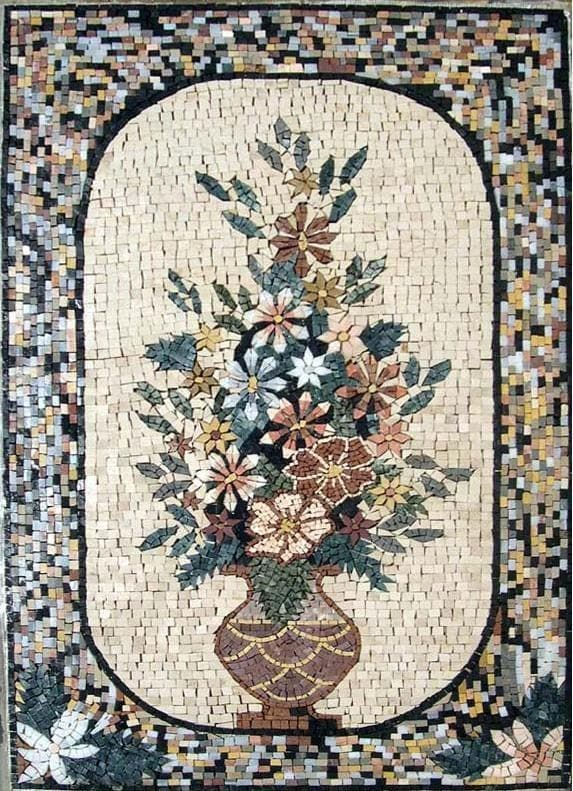 Flower Stone Mosaic Art