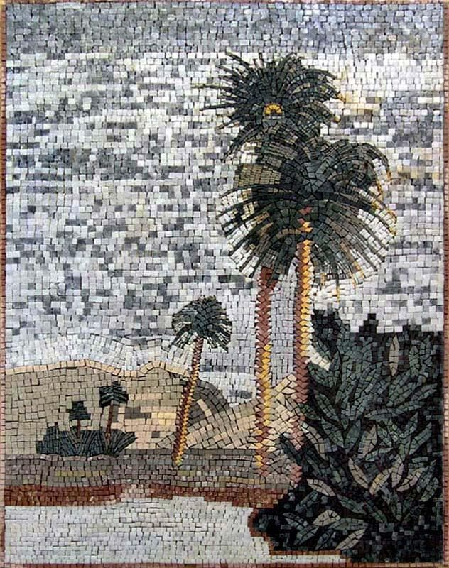 Plam Trees Mosaic Art