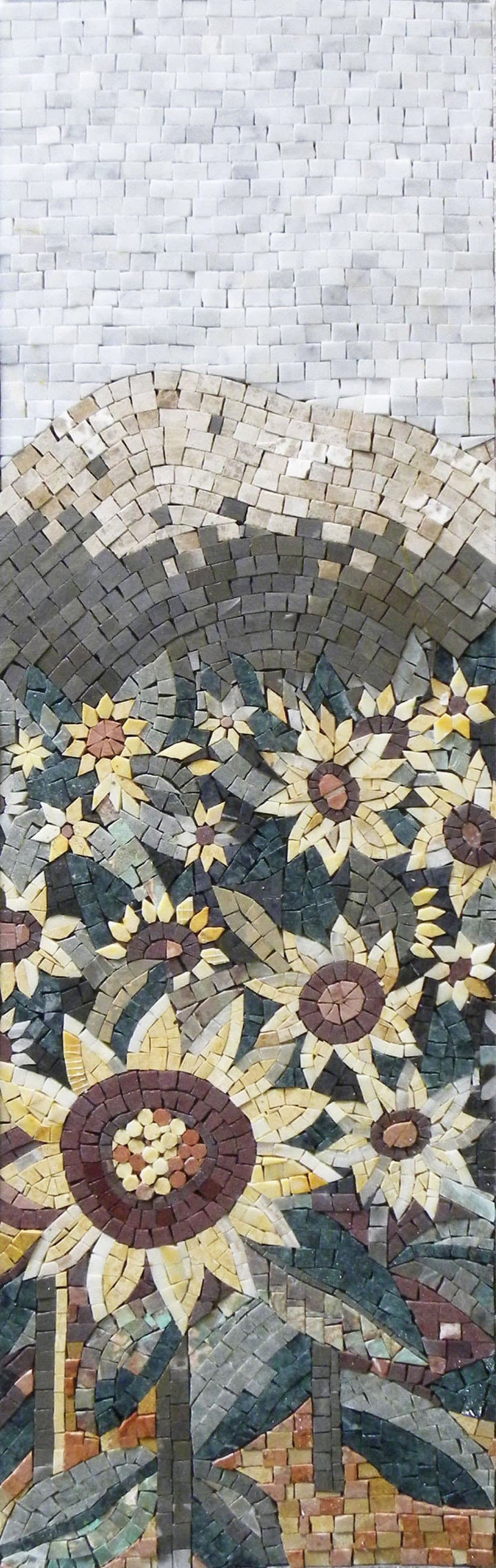 Mosaic Tile Art - Sun On Flowers