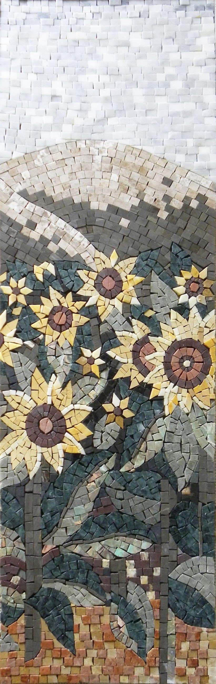 Art Mosaic Patterns - Yellow Flowers