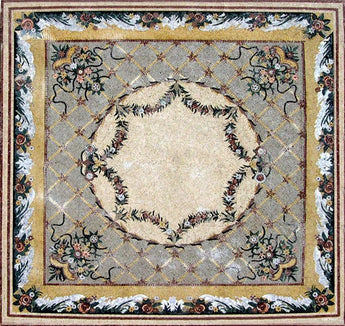 floral stone mosaic