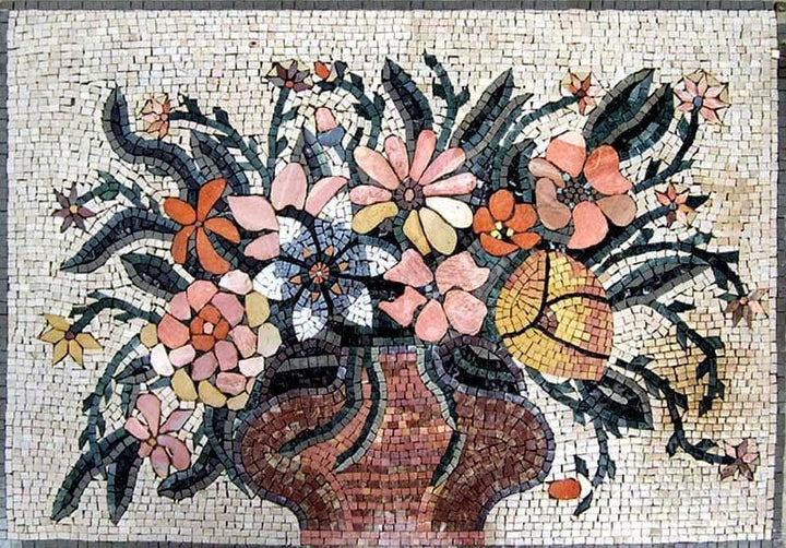 Mosaic Artworks - Jar Of Flowers