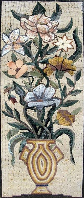 Chrysanthemum Mosaic Wall Art