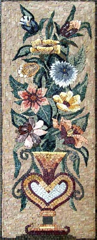 flower marble mosaic