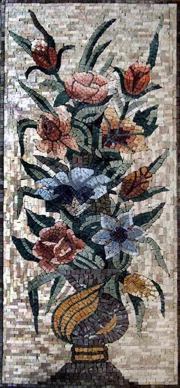 Carnation Floral Decor. Roman Mosaic
