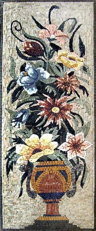 Daisies and Lilies Handmade Mosaic
