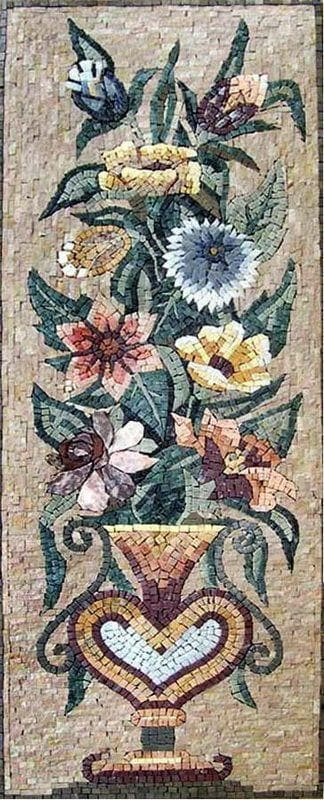 Orchids And Peonies Floral Mosaic Art Pic