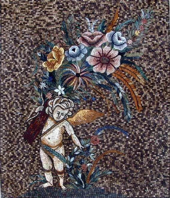 The Cherub Floral Mosaic
