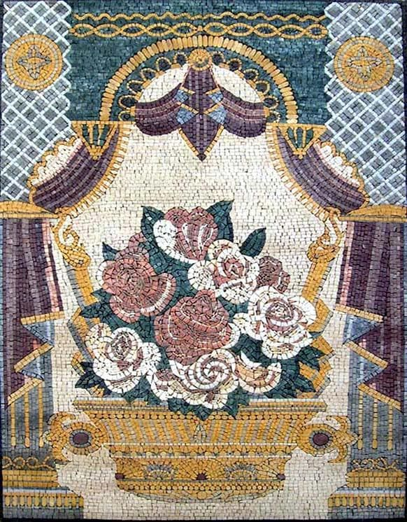 The Rose Blossoms Floral Mosaic