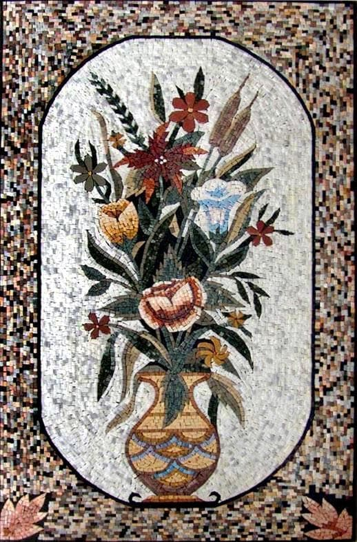 Tulips and Orchids Roman Mosaic