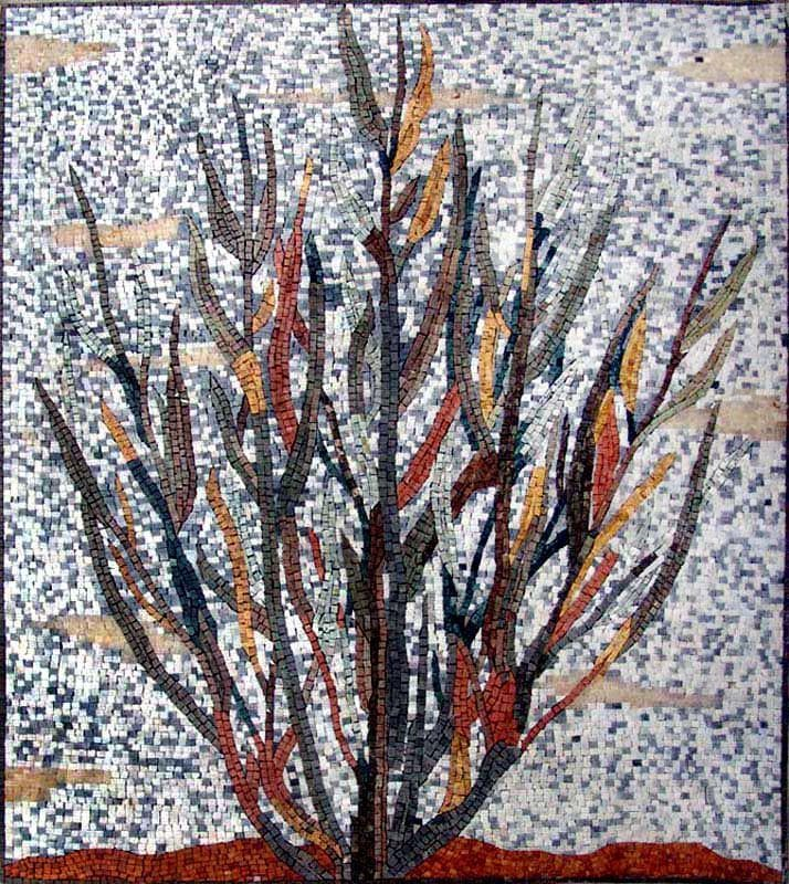 The Autumn Tree Mosaic Art Pic