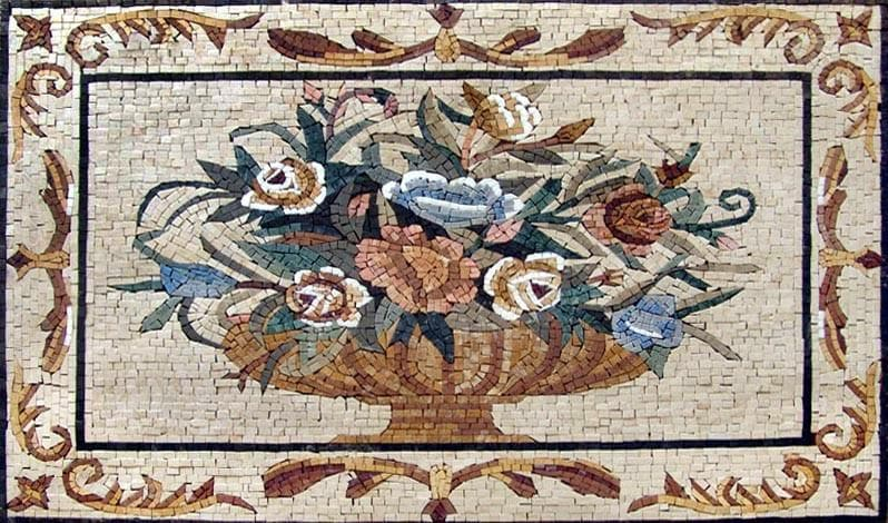 The Antique Flower Vase Mosaic