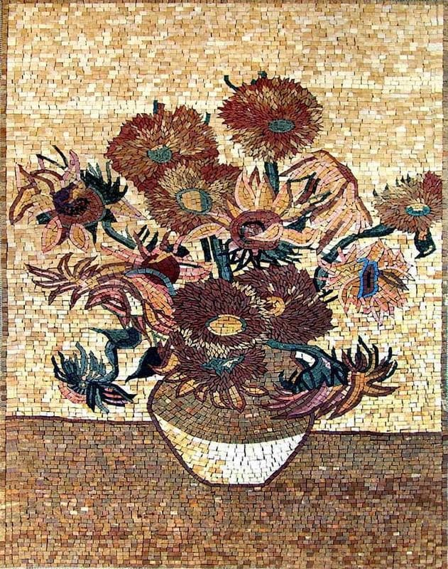 The Poppy Flower Vase Mosaic