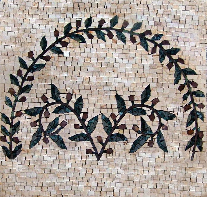 Olive Branch Mosaic Tile Patterns